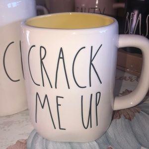 Rae Dunn CRACK ME UP coffee mug